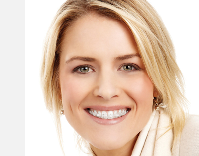 Picture of a smiling blonde woman with great teeth